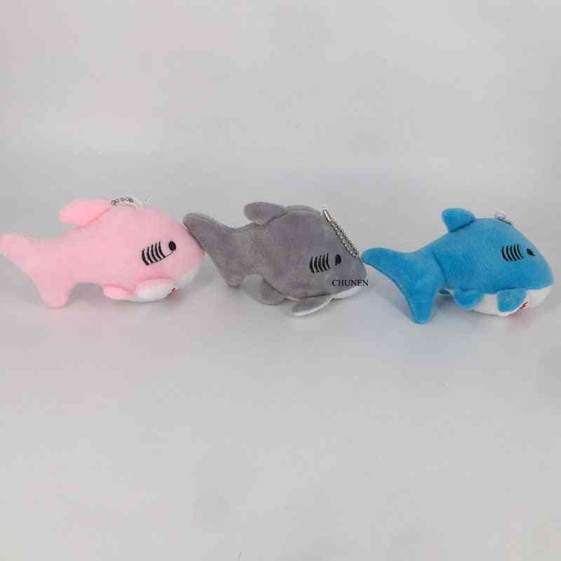 12cm Shark Design Plush Toy-mini Key Chain