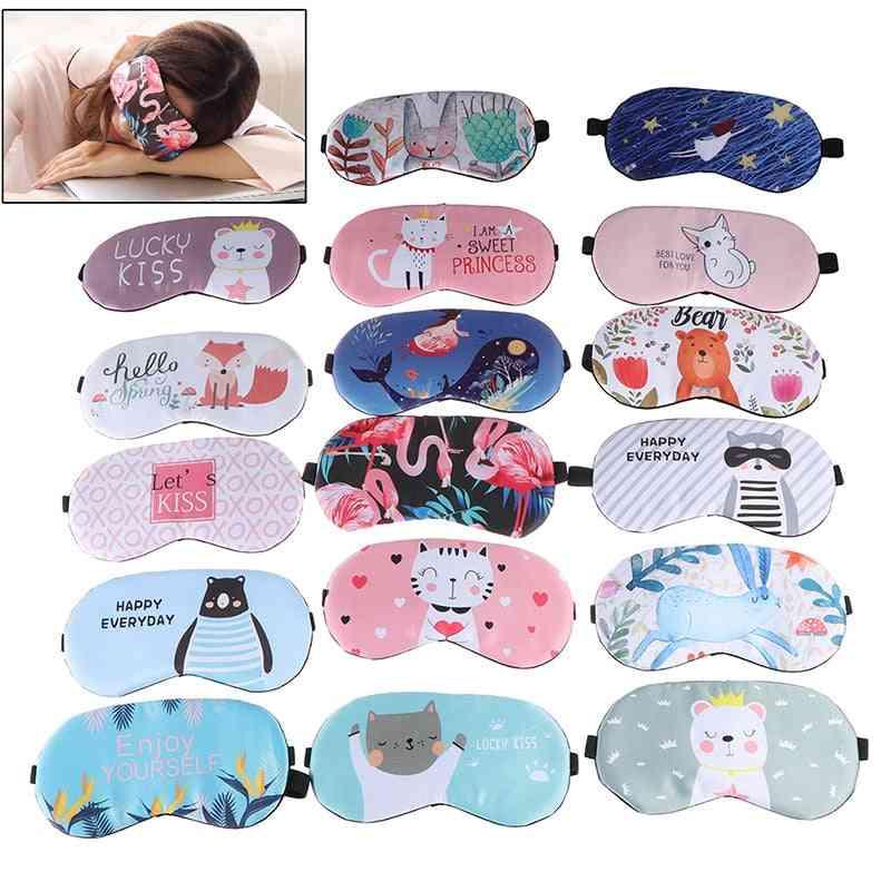 1pc Sleeping Eyepatch, Eye Cover, Cotton Creative , Lovely Cartoon For Eye - Travel ,relax ,sleeping Eye Patch