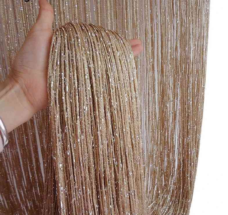 Beads String Thread Curtains - Window Wall Panel Room Divider, Doorway, Wedding Decor