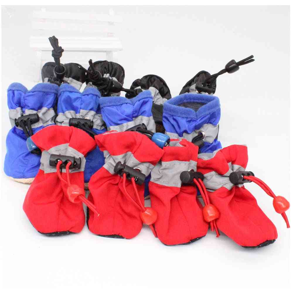 Waterproof Anti-slip Pet Shoes For Small Dogs Cats Thick Snow Dog Boots Socks