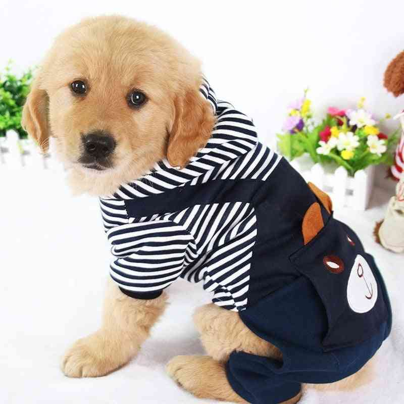 Fashion Striped Pet Dog Clothes For Dogs Coat Hoodie Sweatshirt Winter Clothing Cartoon Pets Clothing
