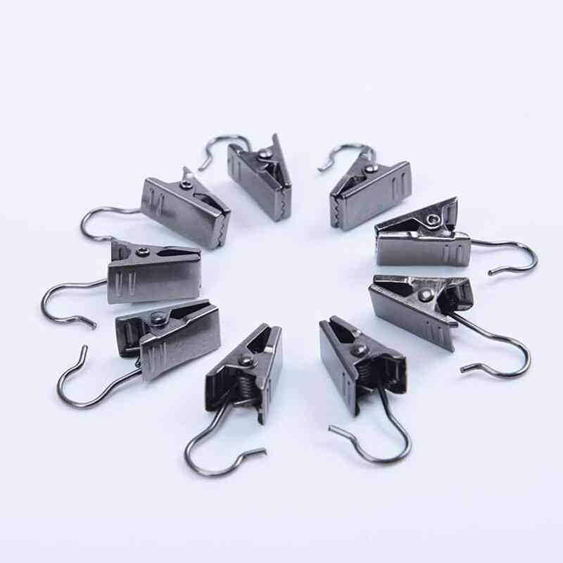 Strong Sturdy Metal Curtain Clips Shower Hooks