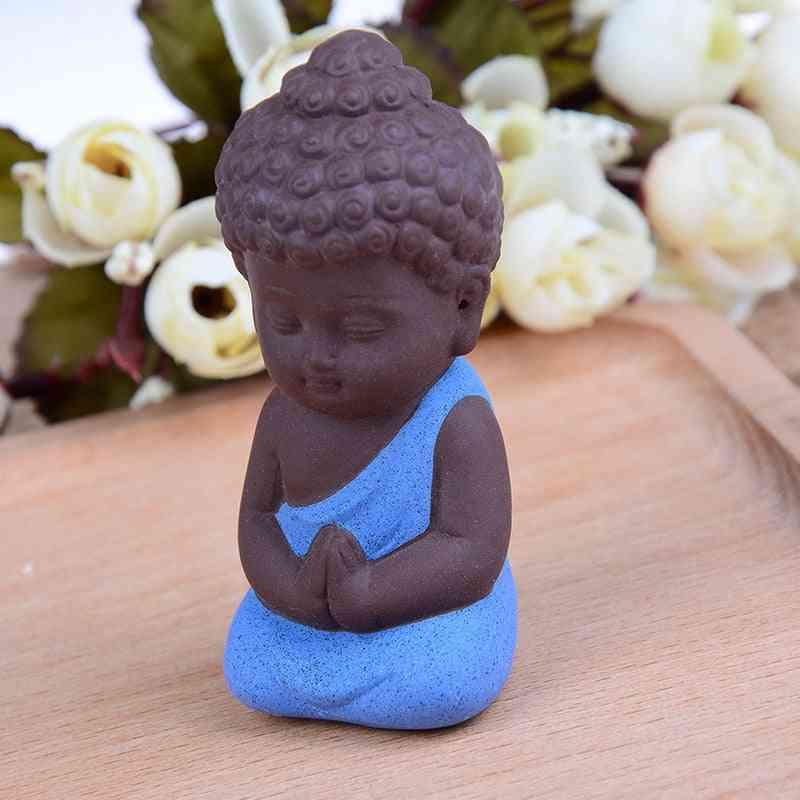 Mini Chinese Buddhism Zen Monks Statues - Little Meditation Monk Miniature