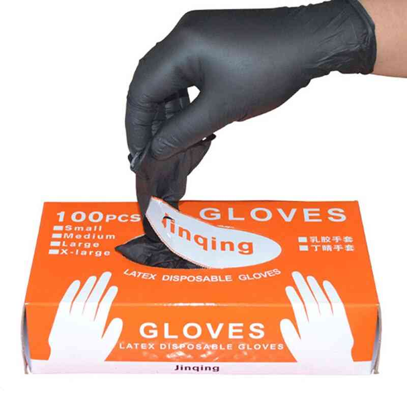 Black Disposable Nitrile Gloves Powder Free Ambidextrous For Household Cleaning Industrial Use Tattoo Latex Gloves
