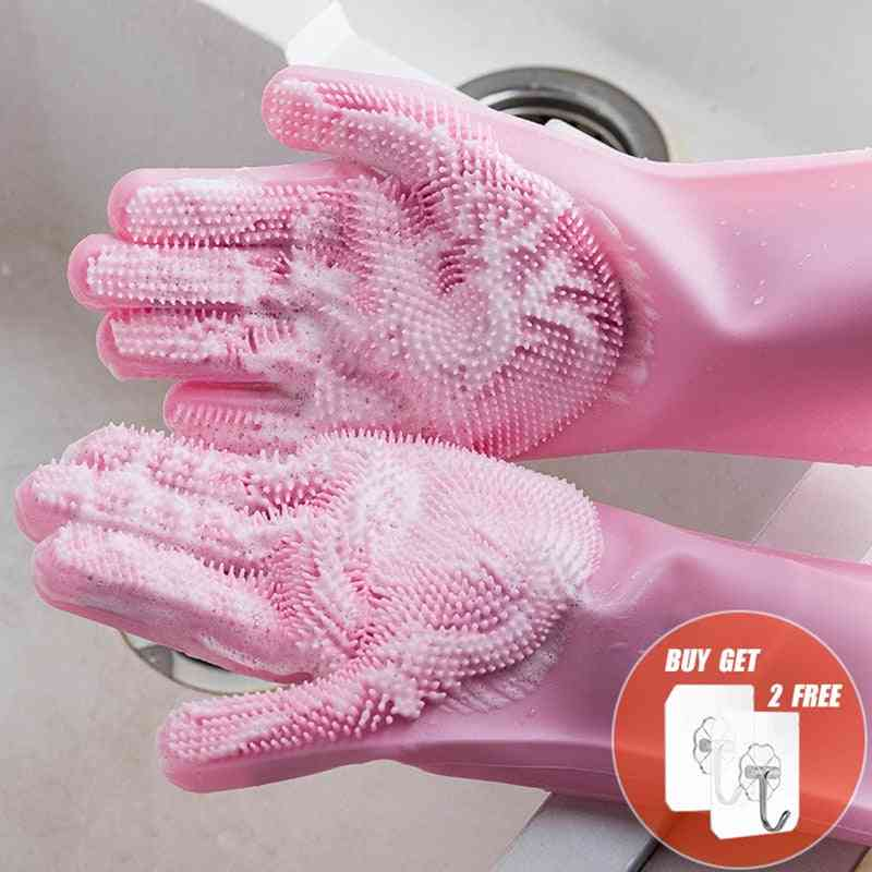 Multifunction Silicone Cleaning Gloves, Magic Silicone Dish Washing Gloves For Kitchen Household Silicone Dishwashing Gloves