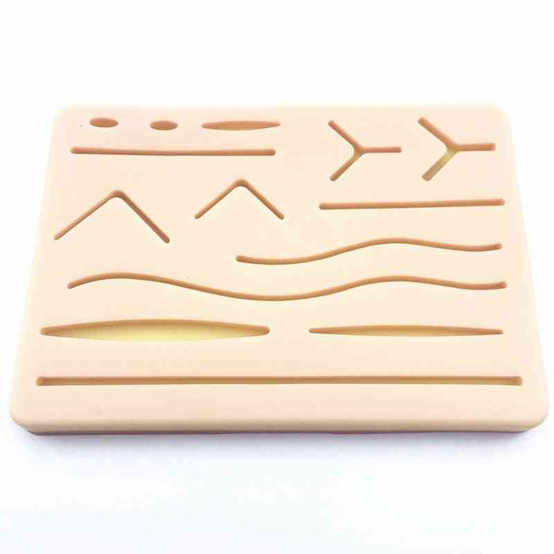 Surgical Skin Suture Practice Silicone Pad - Wound Simulated Skin Suture Module Teaching Equipment