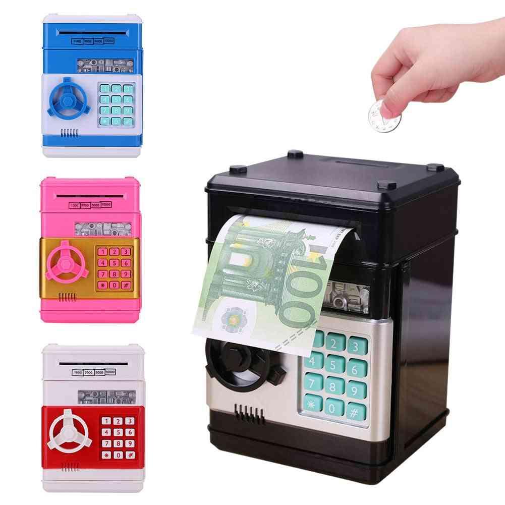 Stylish Electronic Atm, Mini Password Money Piggy Bank - Automatic Deposit Banknote