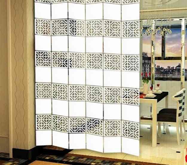 Laser Engraved Craft Hanging Folding Partition Screen/room Divider Panels 6pcs