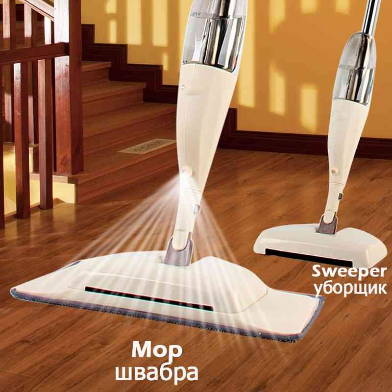 Magic Mop Wooden Floor Flat Mops Home Cleaning Tool Household With Reusable Microfiber Pads Lazy Mop