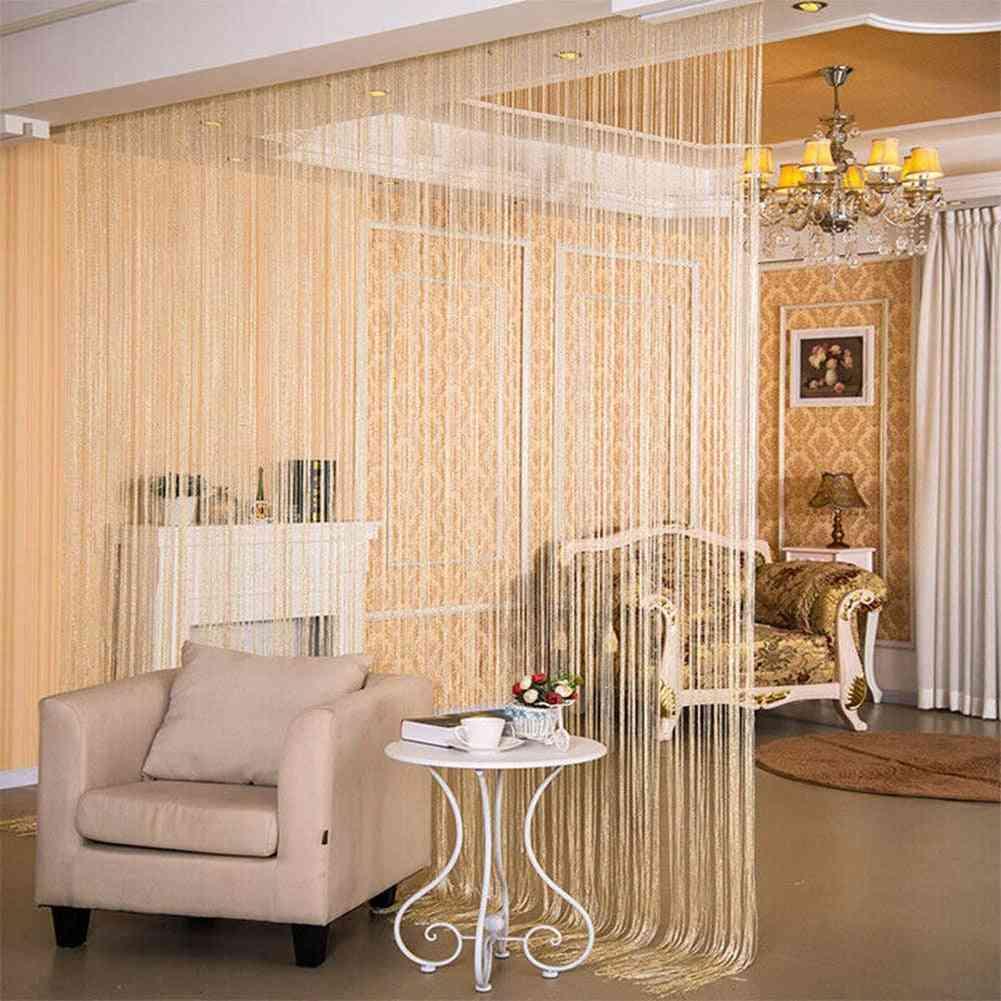 Stylish Glitter String Door Curtain Room Dividers - Beaded Fly Screen Fringe Window Panel