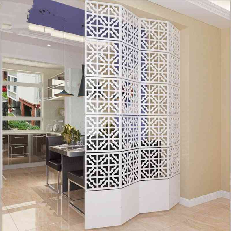 Folding Screen Hanging Decorative Room Divider Partition Shield Blinds 6pcs