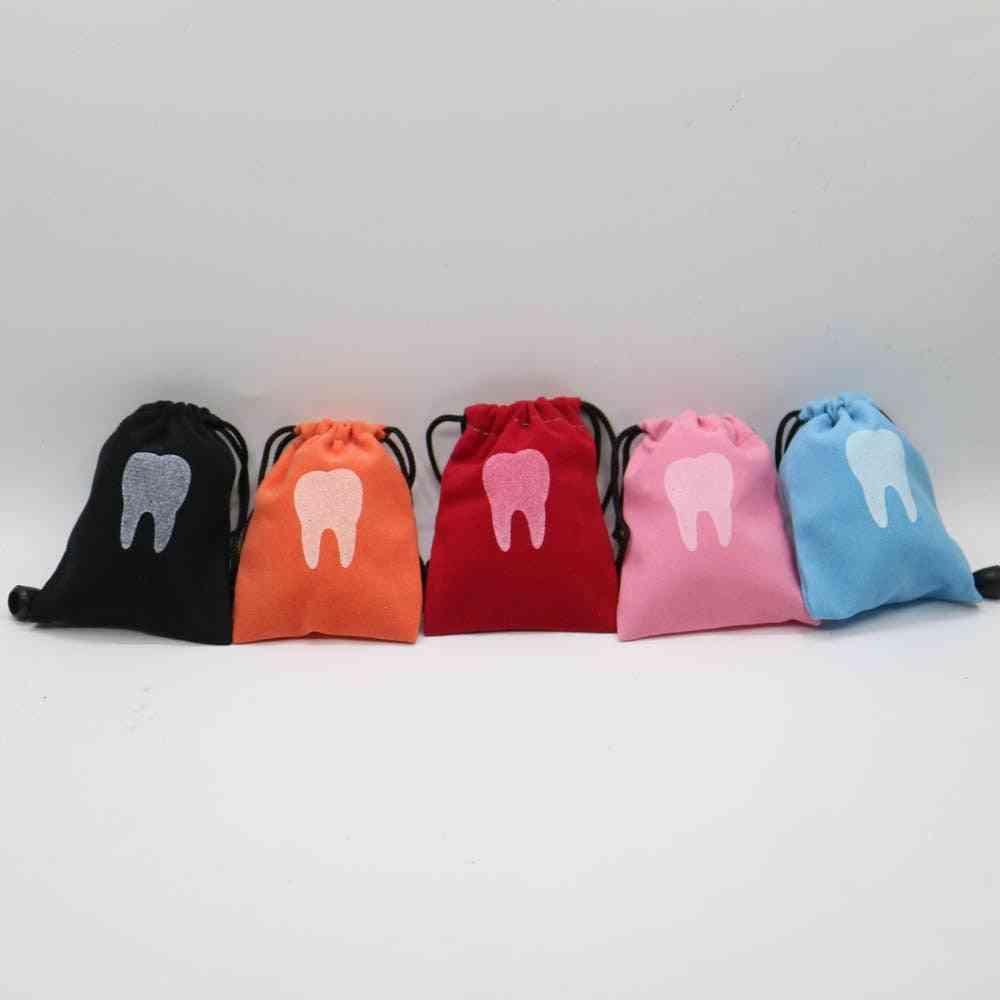 10pcs Deciduous Primary, Milk Teeth Storage Bag