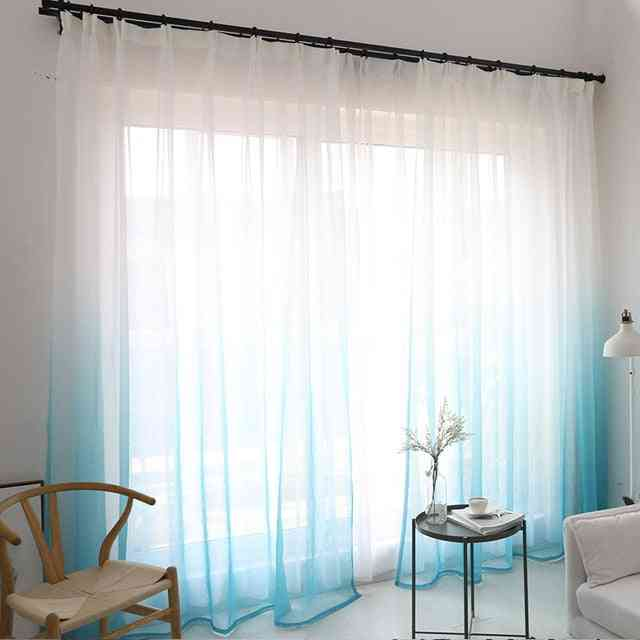 Modern Home Decoration Gradient Color Window Tulle Curtains