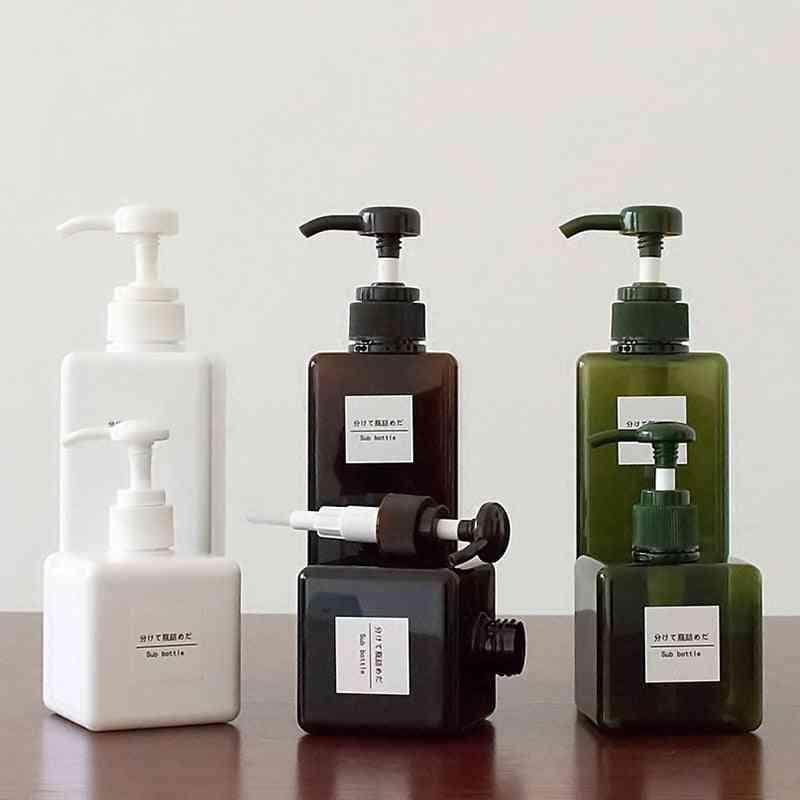 Color Soap Dispenser Cosmetics Bottles, Bathroom Hand Sanitizer, Shampoo Body Wash Lotion Empty Travel Bottle