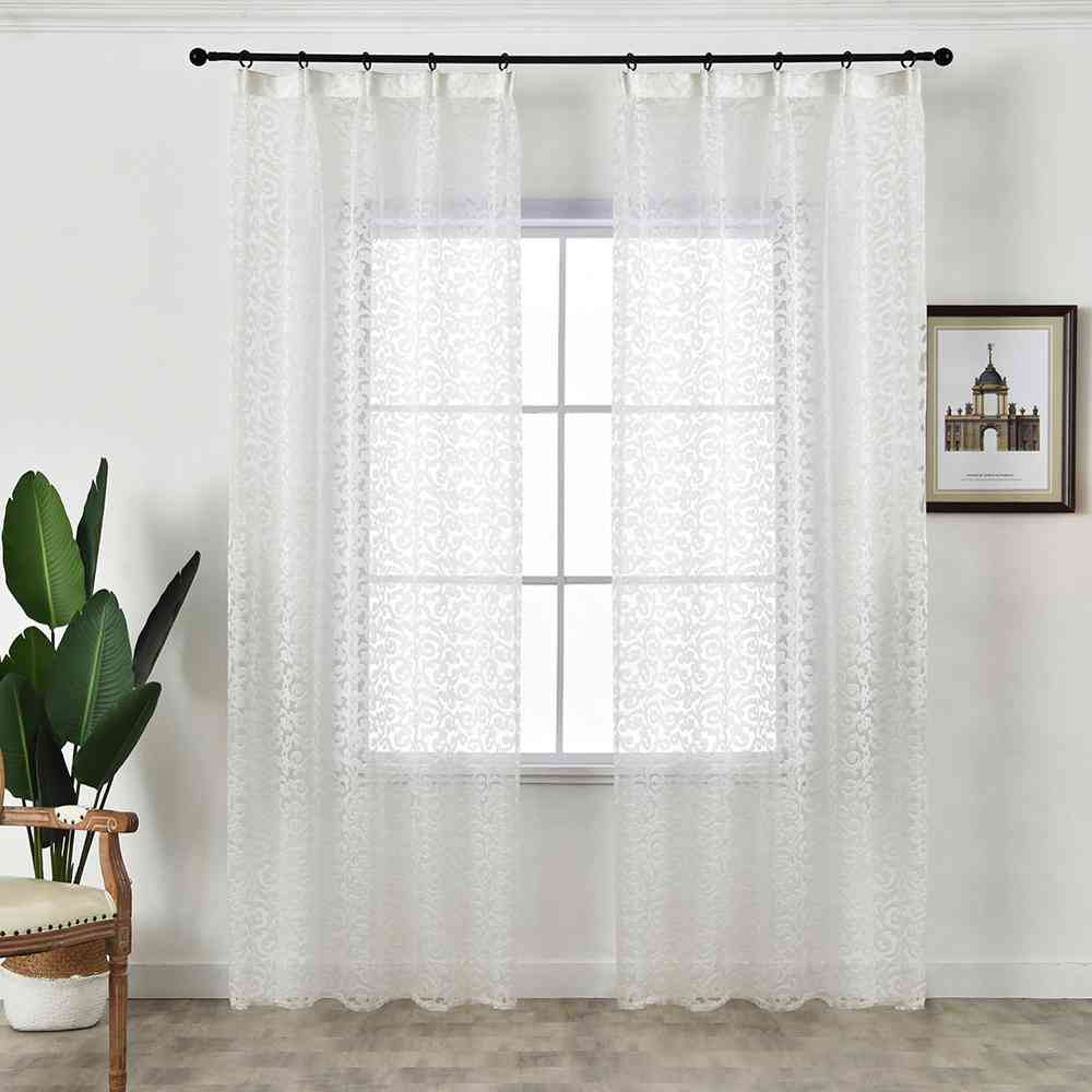 European Style Jacquard Design Modern - Home Decoration Tulle Fabrics Curtain