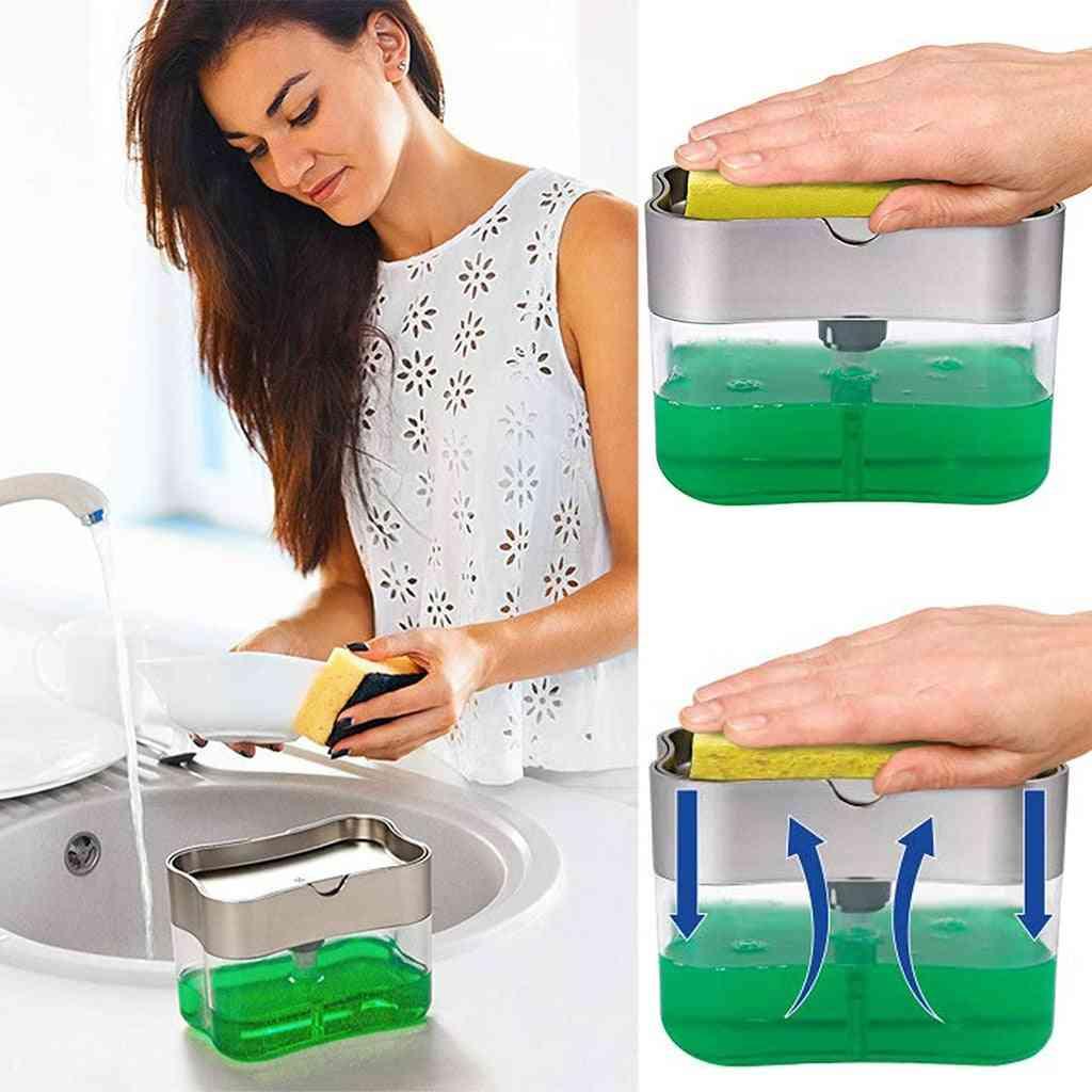 Dispenser Soap Dispenser And Sponge Caddy Ounces