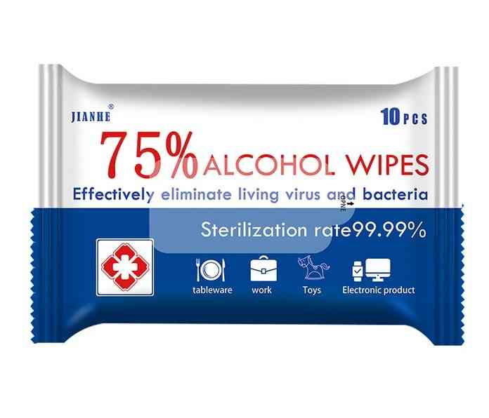 80pcs Disinfect Alcohol Pads For Antiseptic Sterilization