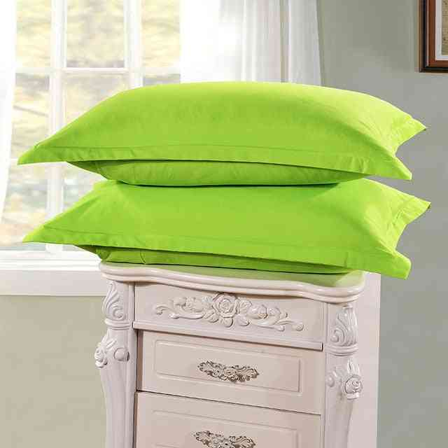 Brief Style 100% Polyester Solid Color Pillow Case For Bedroom