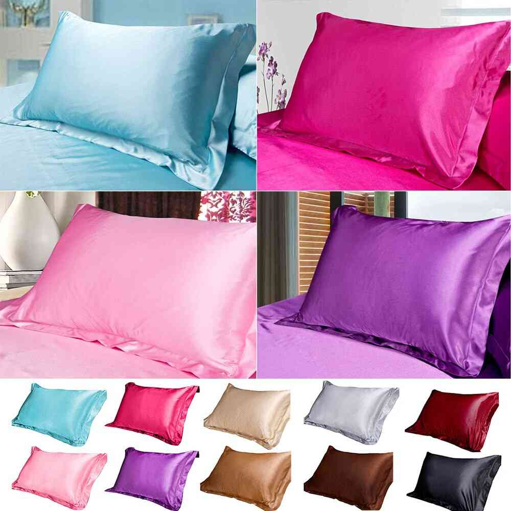 Pure Emulation Silk Satin Comfortable Single Pillowcase For Bed