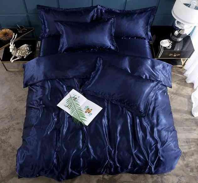 Fashion Style Pure Satin Silk Home Bedding Set