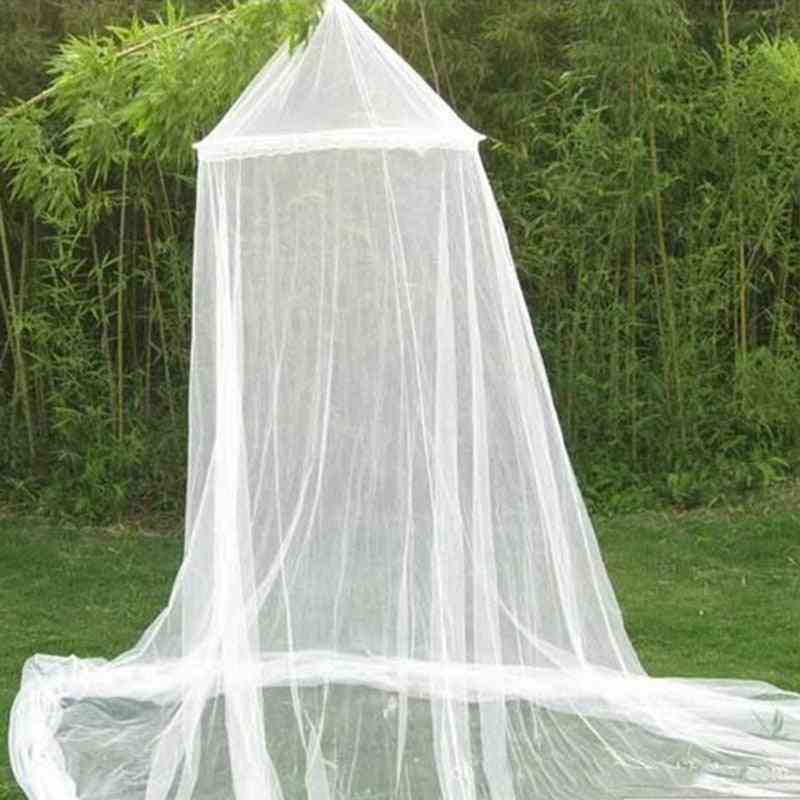 Round Baby Bed Mosquito Net, Dome Hanging Cotton Canopy Curtain For Baby Kids