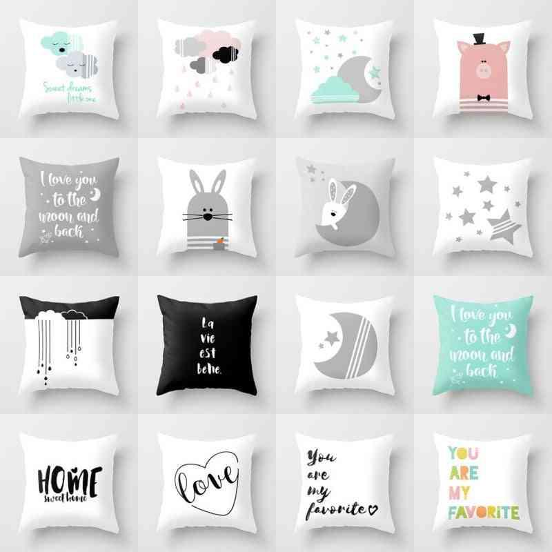 Cartoon Cartoon Printed, Square Pillow Covers