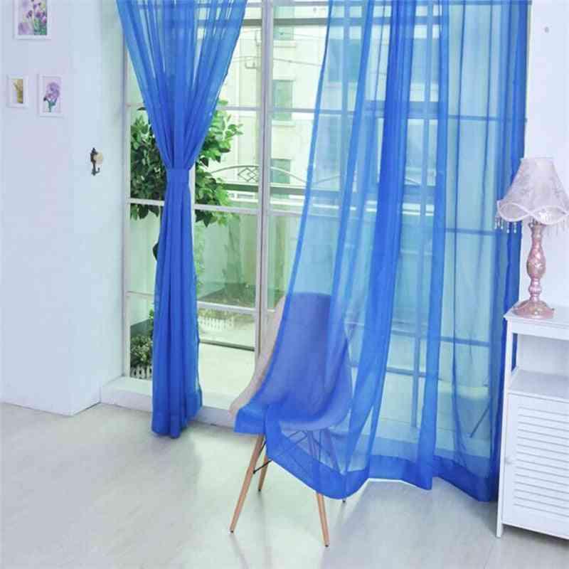 Door / Window Curtain - Panel Sheer Scarf Valances And Semi Transparent Drapes