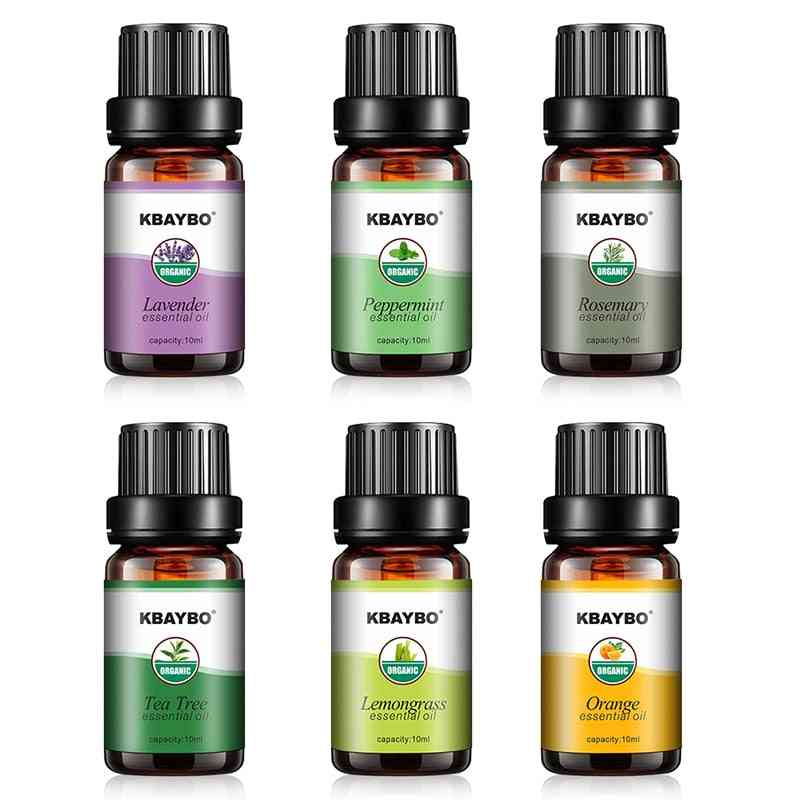 6pcs Essential Oils For Aroma Diffuser - Humidifier Fragrance (10ml Each)