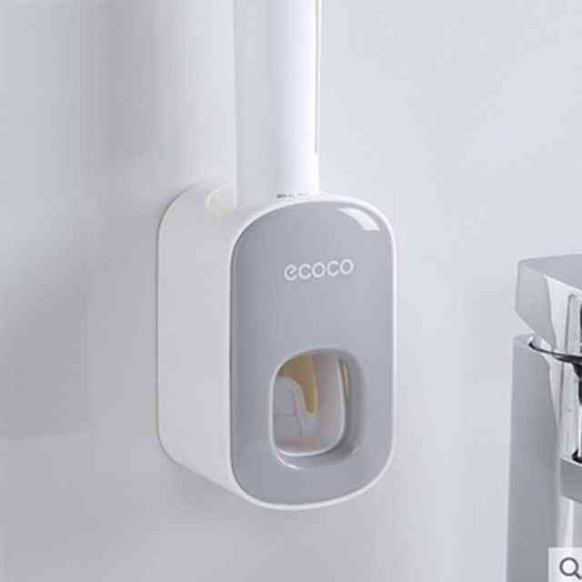 Wall Mount Automatic Toothpaste Squeezer Dispenser Holder Tool