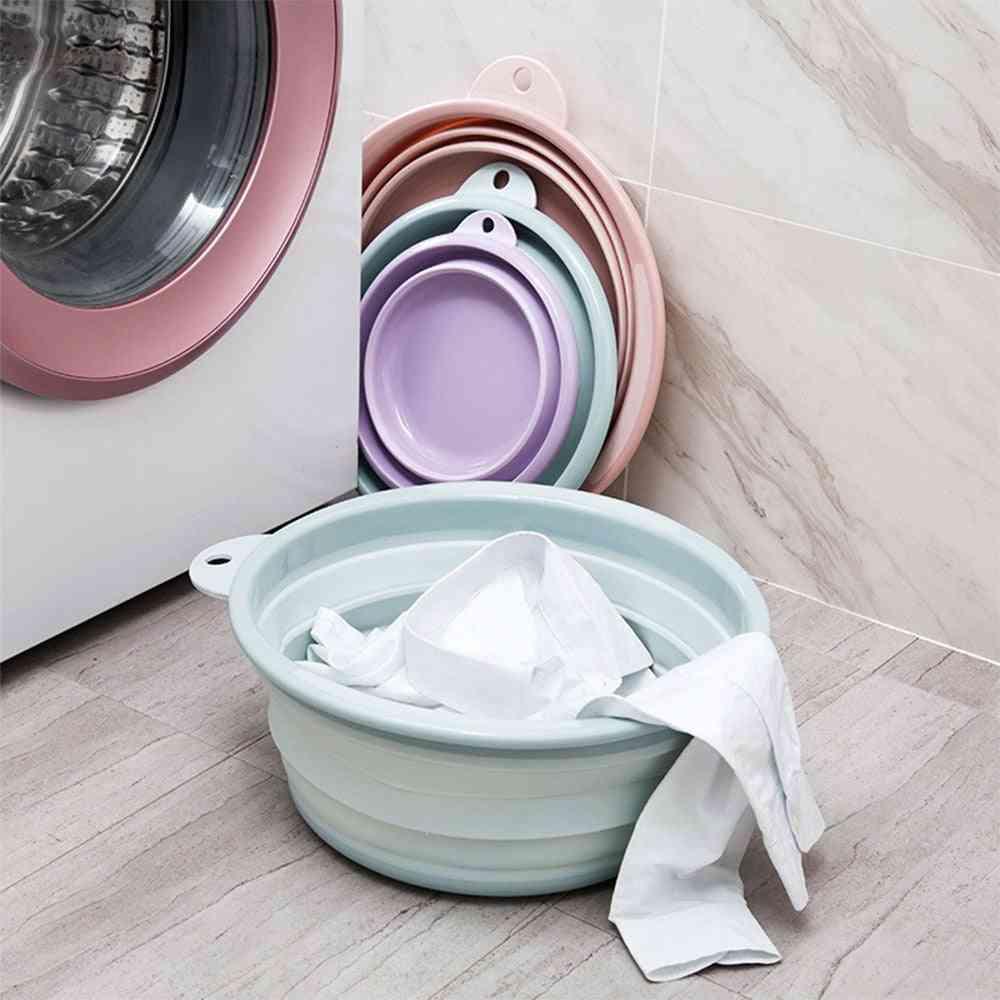 Portable Fruit Folding Wash Basin Bucket Container - Washtub Baby Washbasin For Travel