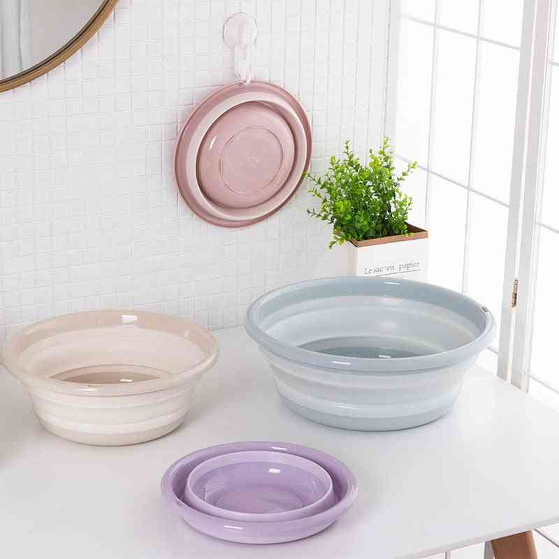Folding Washbasin Water Bowl, Bucket And Fruit Tray