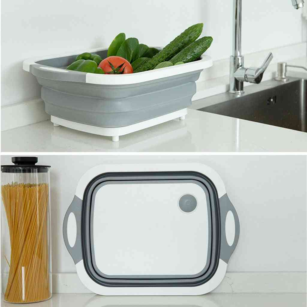 High Quality Foldable Fruit Vegetable Washing Drain Basket For Kitchen & Travel