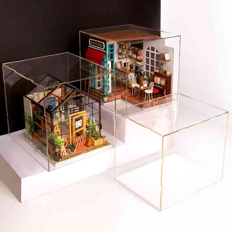 Transparent, Dust Cover - Display Box For Doll House