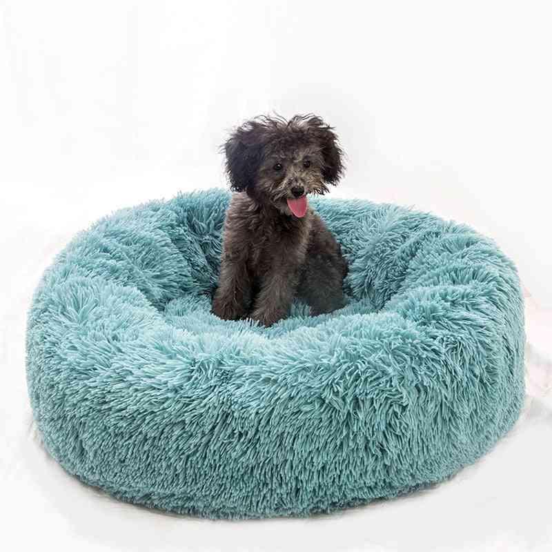 Luxury Soft Plush Round Shape Dog Sleeping Bed - Cat Puppy Sofa For Winter