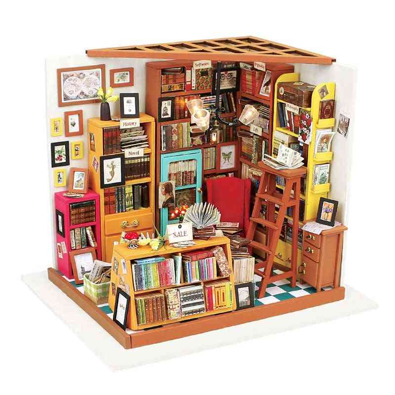 Diy Wooden Miniature Study Room With Furniture