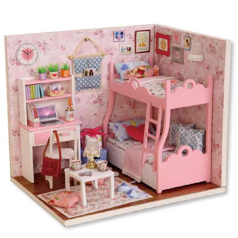 Model Wooden Toy - Furnitures Casa De Boneca Dolls Houses