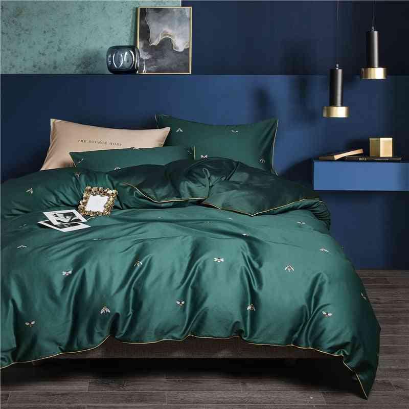 Egyptian Cotton Soft Duvet Cover, Fitted & Flat Bedsheet Set