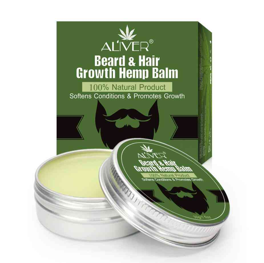 Natural Conditioner Balm For Beard Growth And Organic Moustache Wax For Caring Smooth Styling