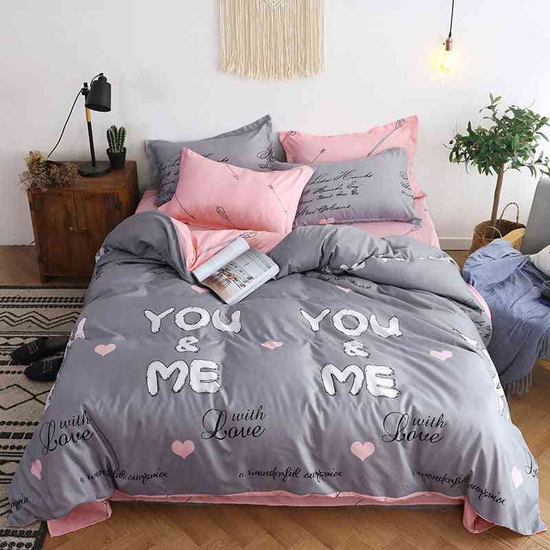 Geometric Soft Cotton's & Adult Duvet Cover, Bed Sheets And Pillowcases Comforter Bedding Set