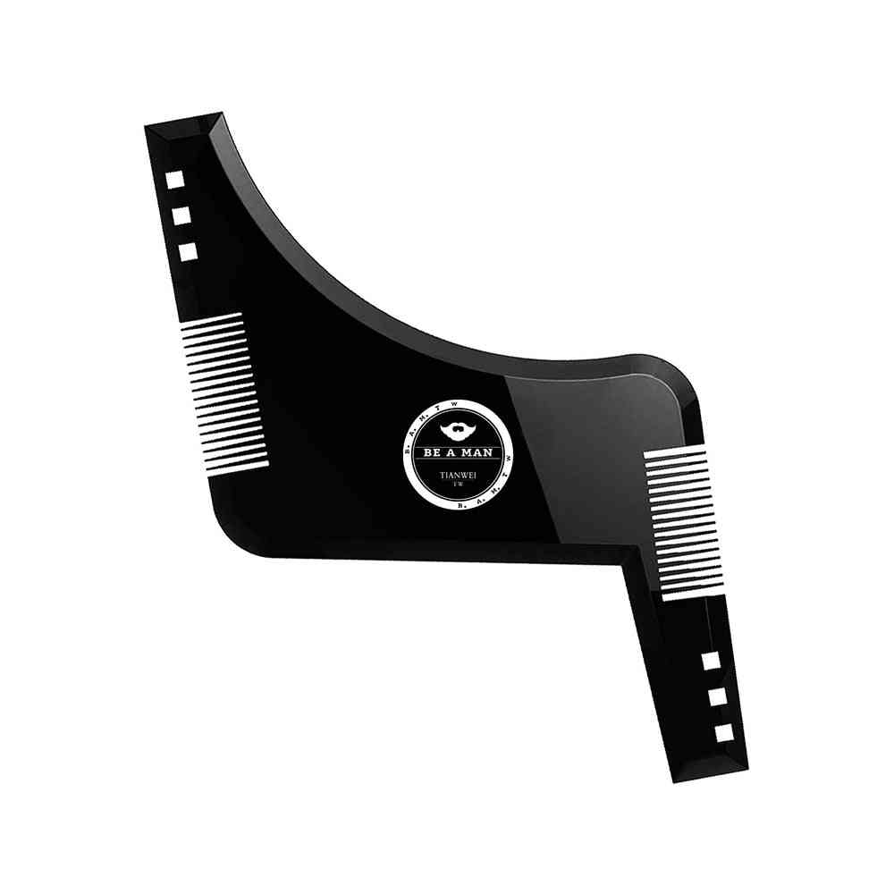 Fashion Beard Styling Template Comb - Mustache Symmetry Trimming Stencil