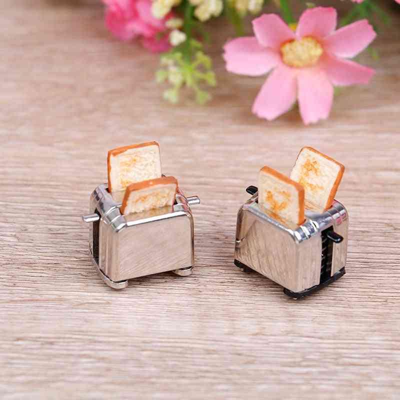 Mini Bread Machine With Toast Miniature - Dollhouse Accessories