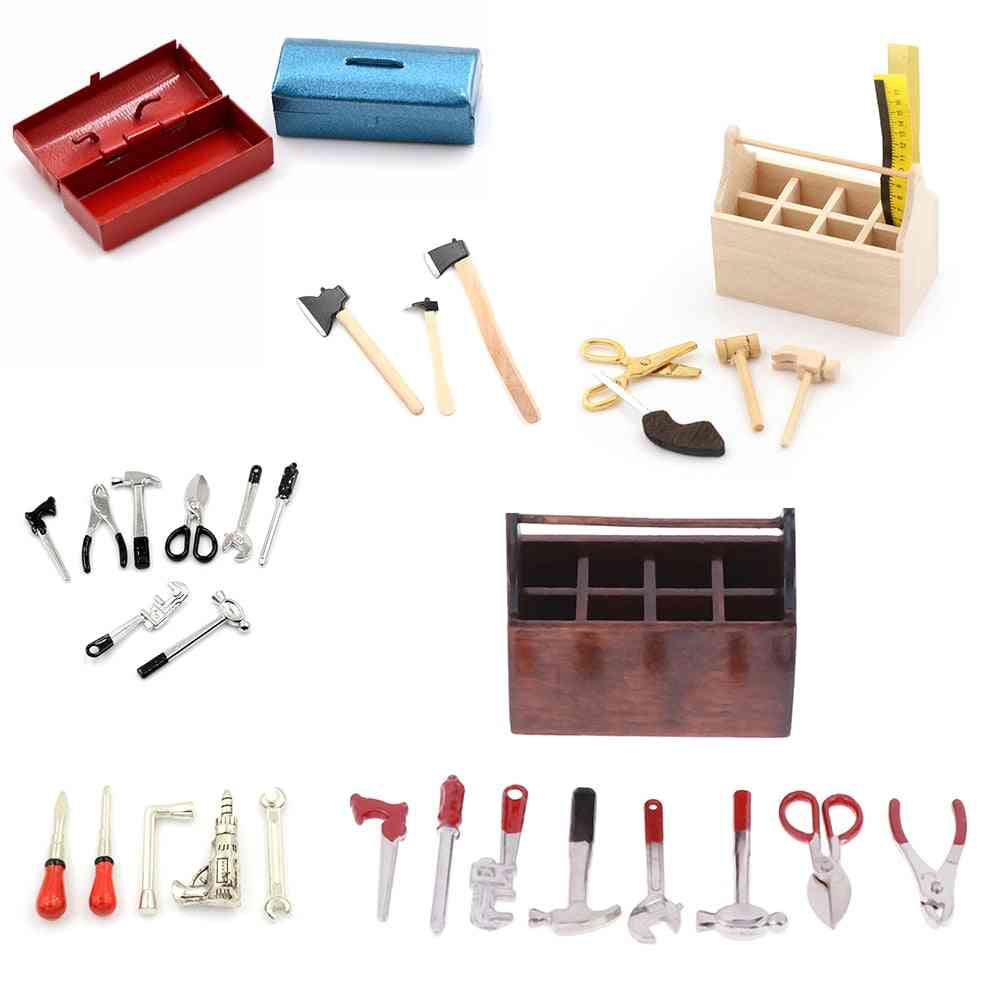 Mini Metal Tool Box And Repair Apparatus-doll House Accessories