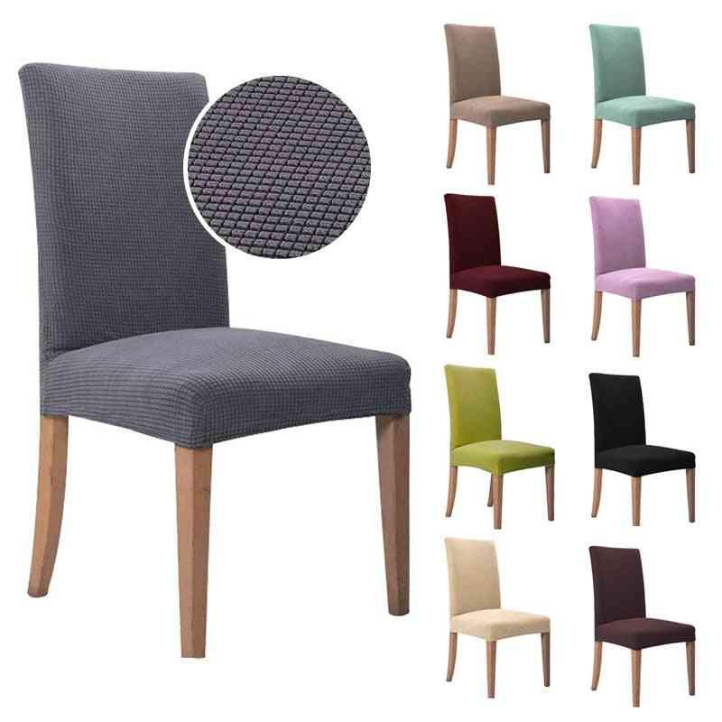 Jacquard Spandex Elastic Plain Dining Chair Cover/slipcover