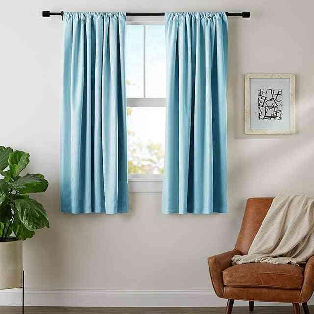 Solid Color, Blackout Short Curtains For Bedroom, Kitchen, Living Room
