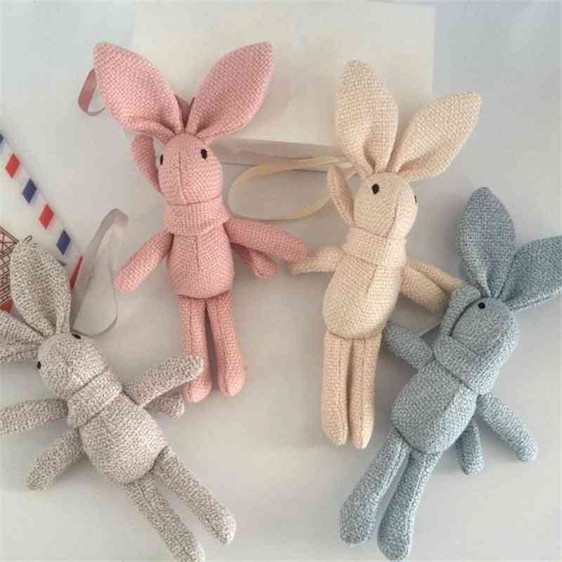 Rabbit Plush , Animal Stuffed Dress Rabbit Key Chain - Kid's Party Plush Toy