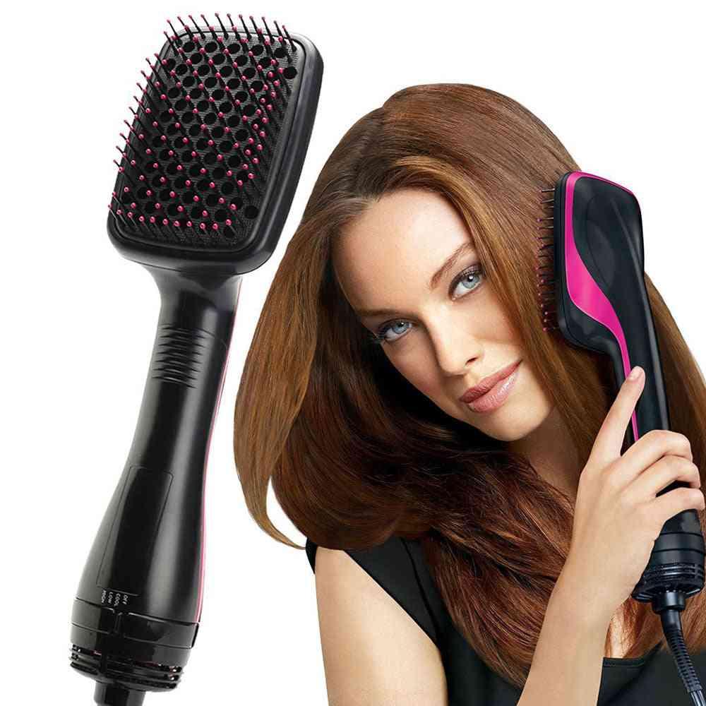 Hair Dryer Brush - Straightener Comb ,hot Air Brush, Multi-functional Comb Wet & Dry Hair Use