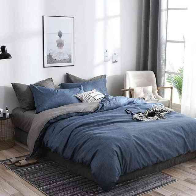 Classical Double-sided Bed Linings Concise Style 3pcs Bedding Set