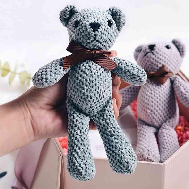 Teddy Bear Stuffed Plush - Cute Dress Rabbit & Pendant Dolls For Decorations