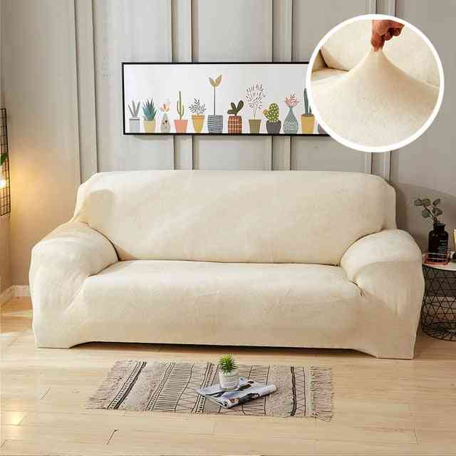 Plush Thicken Stretch Corner Elastic Couch Sofa Cover For Living Room