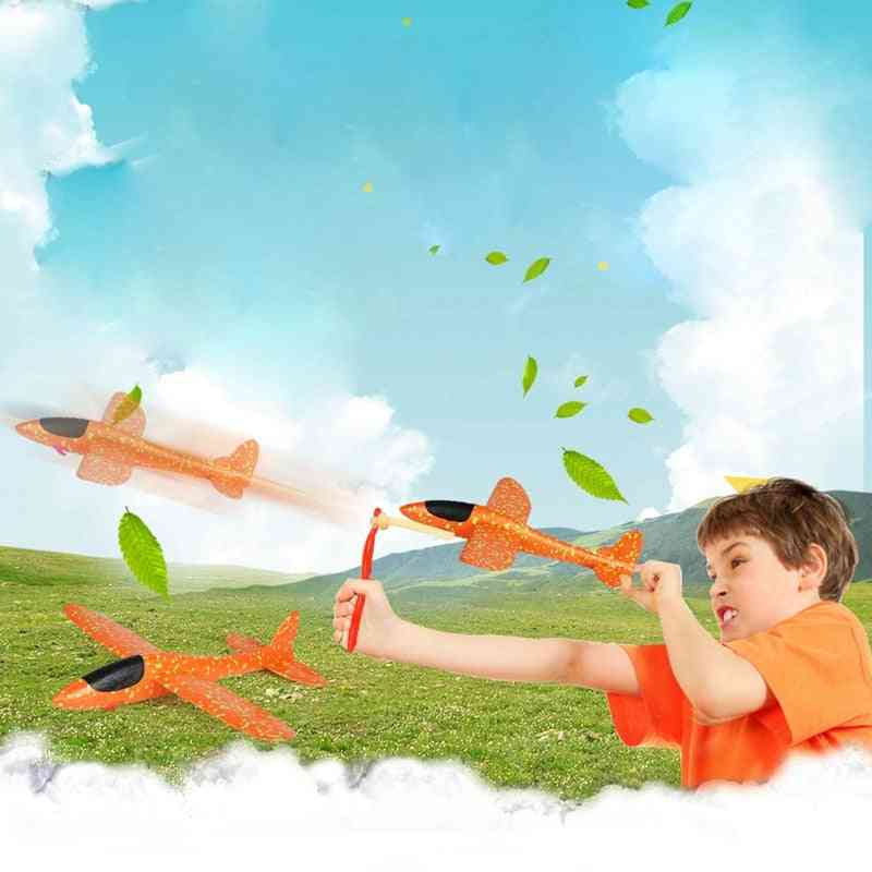 Epp Foam, Hand Throw Airplane With Rubber Band Ejection For